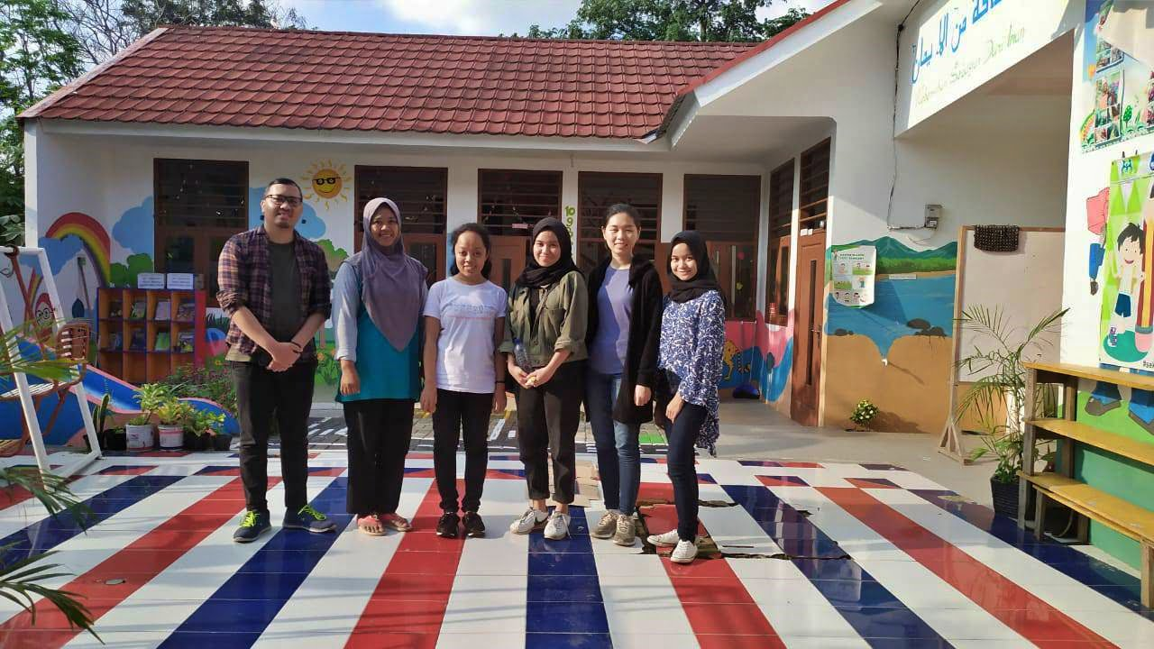 HHI team with Mrs. Ade from PAUD Widuri