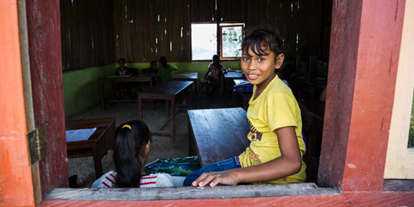 Student in Kupang. Photo by Dominic Hall.